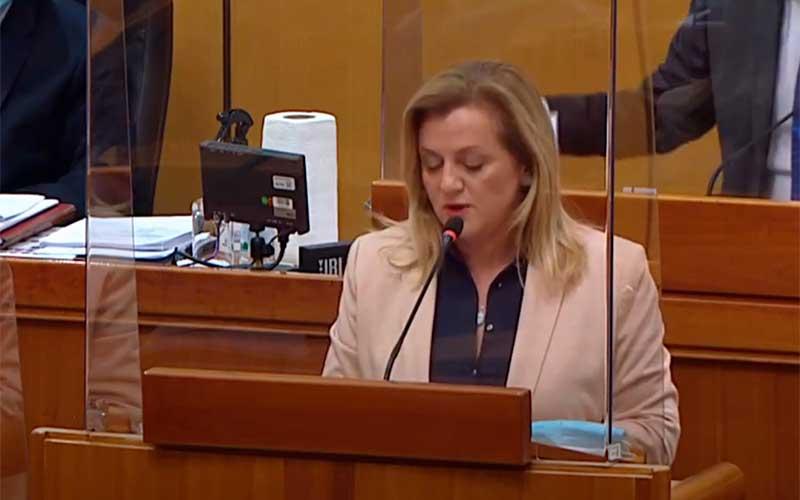 Ermina Lekaj Prljaskaj u Saboru